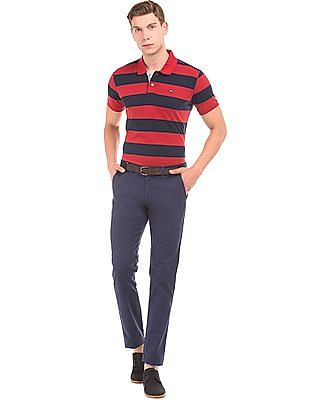 Arrow Sports Striped Cotton Jersey Polo Shirt