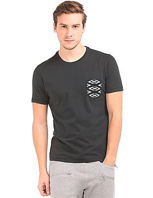 Ed Hardy Patterned Pocket Crew Neck T-Shirt