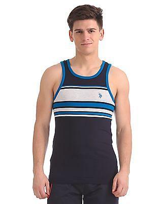 USPA Innerwear Assorted Striped Jersey Vest