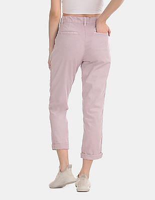 GAP Purple Girlfriend Twill Stripe Chinos