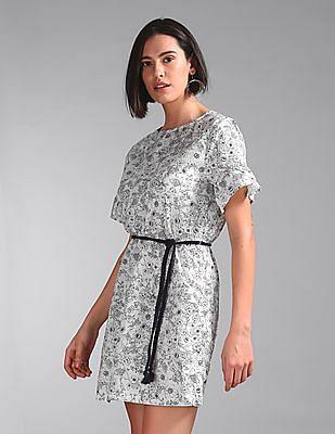 GAP Printed Ruffle Dress