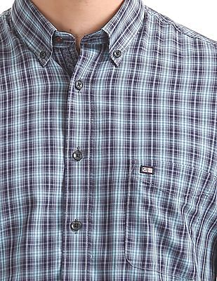 Arrow Sports Checked Button Down Shirt