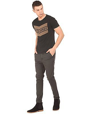 Ed Hardy Crew Neck Stud Embellished T-Shirt