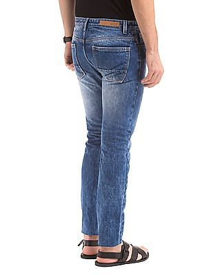 True Blue Washed Tapered Fit Jeans