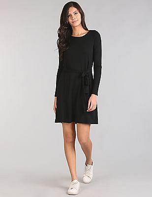 GAP Softspun Knit Long Sleeve Swing Dress