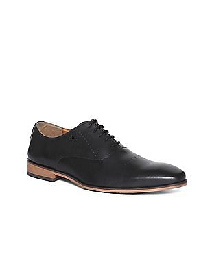 Arrow Solid Leather Oxford Shoes