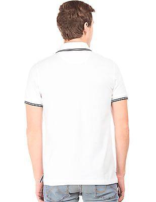 Arrow Sports Tipped Pique Polo Shirt
