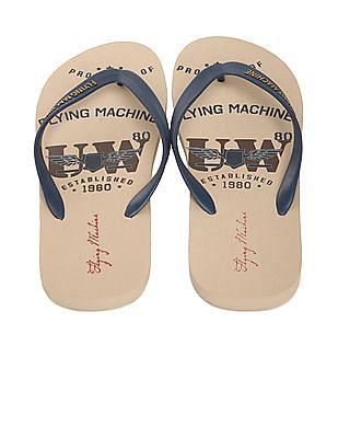Flying Machine V-Strap Printed Flip Flops