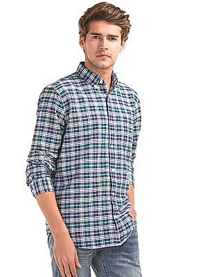 GAP Oxford Plaid Long Sleeve Shirt