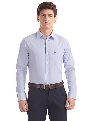 USPA Tailored Printed Regular Fit Shirt