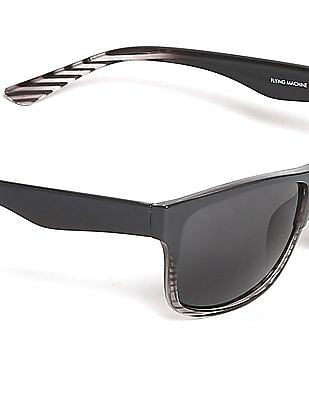 Flying Machine Grey Square Frame UV Protected Sunglasses