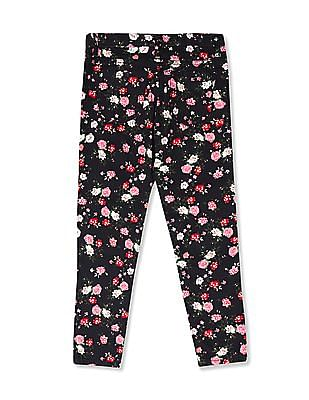 The Children's Place Girls Bloom Print Woven Jeggings