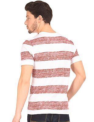 Cherokee Striped Cotton T-Shirt
