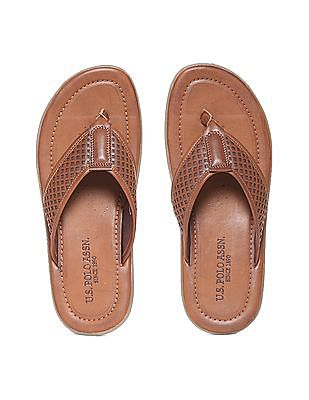 U.S. Polo Assn. Laser Cut Leather Sandals