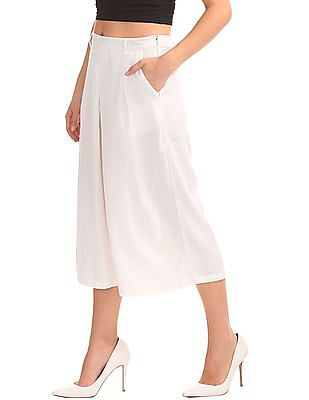 Cherokee Pleated Front Solid Culottes