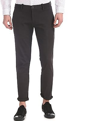 Ruggers Grey Tapered Fit Cotton Stretch Trousers
