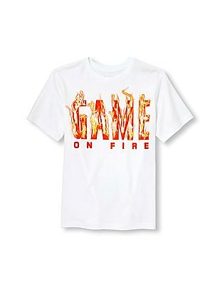 The Children's Place Boys Short Sleeve 'Game On Fire' Graphic Tee