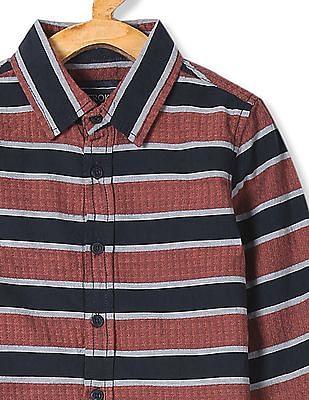 Cherokee Boys Long Sleeve Patterned Shirt