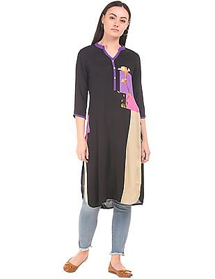 Karigari Printed Zip Placket Kurta