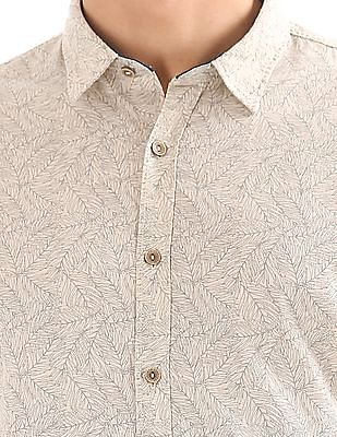 Cherokee Printed Cotton Linen Shirt
