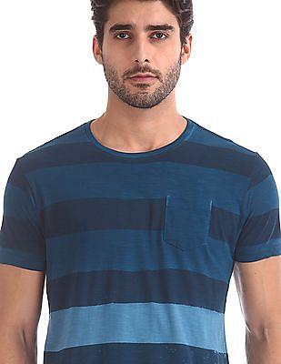 Flying Machine Regular Fit Striped T-Shirt