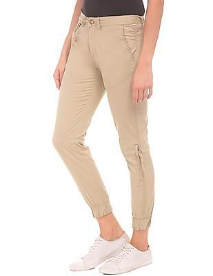 SUGR Solid Cropped Jogger Trousers