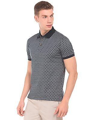Arrow Sports Short Sleeve Printed Polo Shirt
