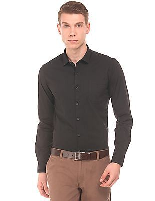 Excalibur Super Slim Fit French Placket Shirt
