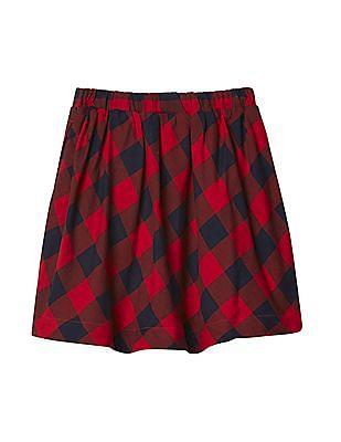 GAP Baby Buffalo Plaid Flippy Skirt
