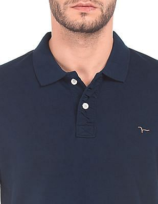 Flying Machine Regular Fit Pique Polo Shirt