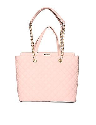 Stride Braided Strap Quilted Tote Bag