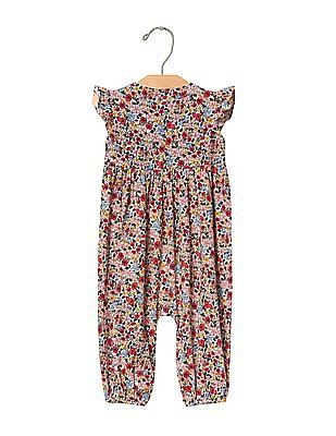 GAP Baby Multi Colour Floral Flutter One Piece