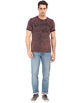 Cherokee Washed Printed T-Shirt