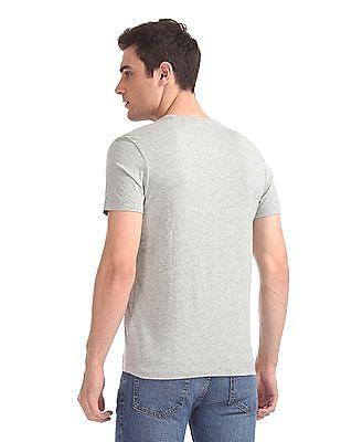 Arrow Sports Distressed Graphic Crew Neck T-Shirt