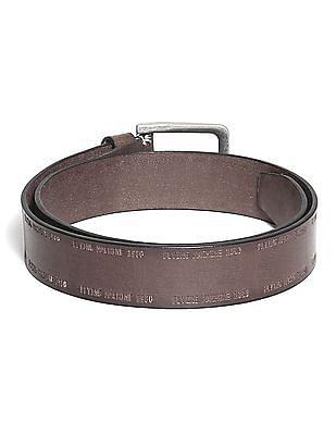 Flying Machine Branded Leather Belt