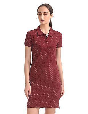 Cherokee Dot Print T-Shirt Dress