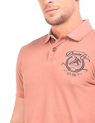 U.S. Polo Assn. Denim Co. Brand Print Muscle Fit Polo Shirt
