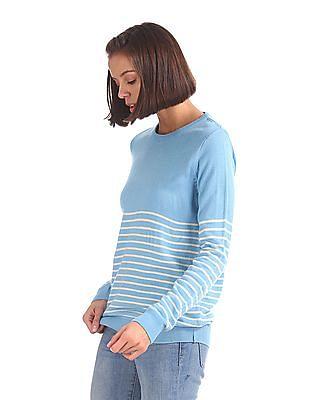 Cherokee Crew Neck Striped Sweater