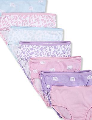 The Children's Place Assorted Toddler Girl Printed Briefs - Pack Of 7