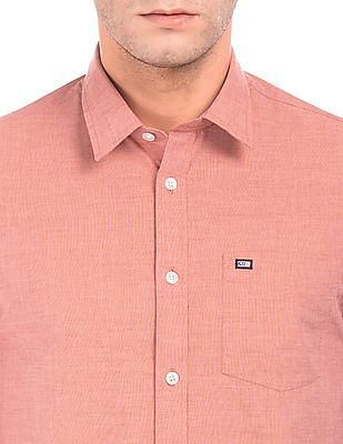 Arrow Sports Solid Slim Fit Shirt