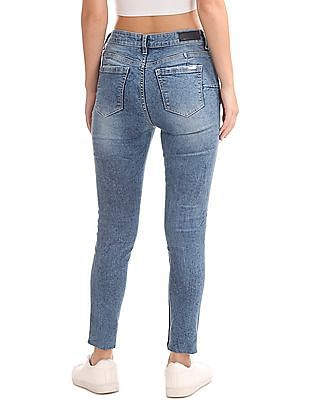 Flying Machine Women Super Skinny Fit Distressed Jeans