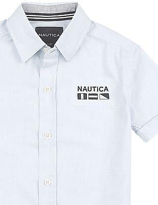 Nautica Kids Short Sleeve Woven Max Stretch Shirt
