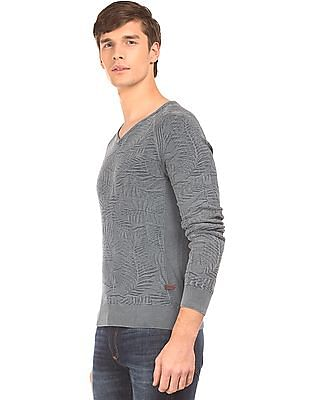 Ed Hardy Patterned Knit Washed Sweater
