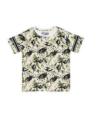 FM Boys Boys Slim Fit Printed T-Shirt