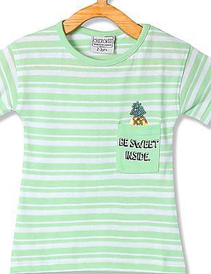 Cherokee Girls Striped Cotton T-Shirt
