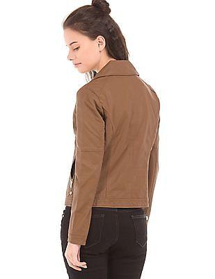 U.S. Polo Assn. Women Panelled Biker Jacket