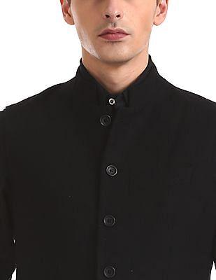 Arrow Newyork Mandarin Collar Woolen Nehru Jacket