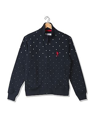 U.S. Polo Assn. Printed Zip Up Sweatshirt