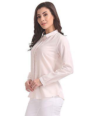 Cherokee Spread Collar Solid Shirt