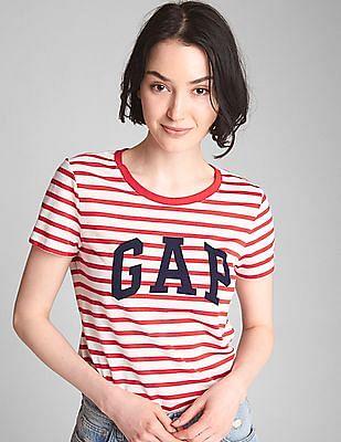GAP Logo Stripe Crewneck T-Shirt